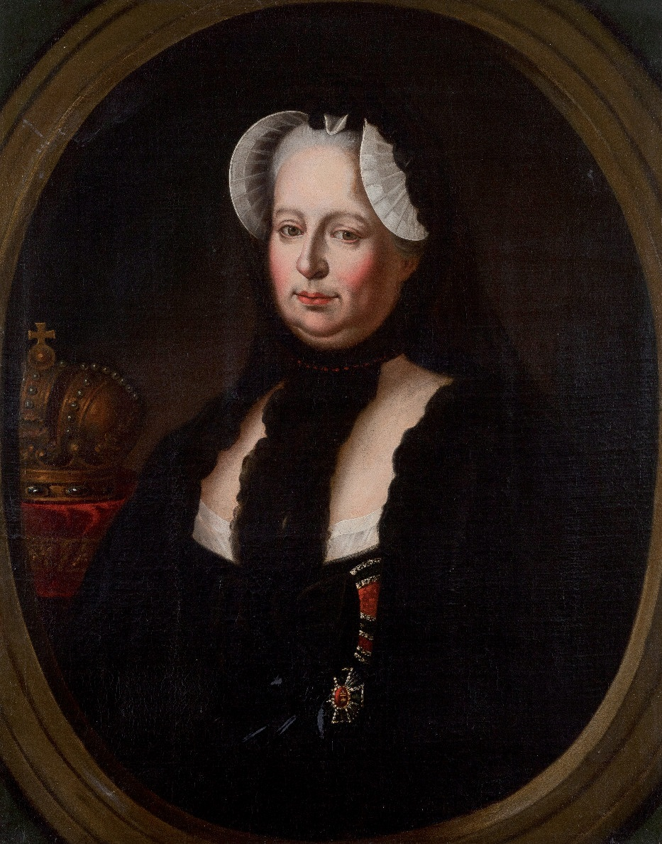 Maria Theresia in Witwentracht